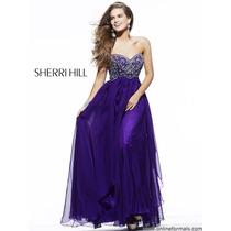 Vestido Fiesta Noche Alta Costura Sherri Hill Talla 12