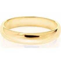Par Alianzas Casamiento Compromiso Media Italiana Oro 18 Kt
