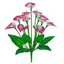 Bq Copo De Leite Rosa C/12 Flores 42 Cm -flor Artificial