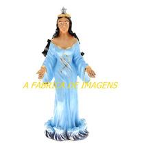 Escultura Iemanjá Rainha Resina Italiana Imagem 15cm Estatua