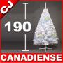 Arbol Navidad 190 Blanco Canadiense Pino Artificial Pachon