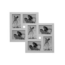 Portaretratos Multiple Para 7 Fotos Con Marco Madera