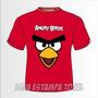 Camiseta Infantíl Angry Birds - Camisa Infantíl
