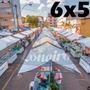 Lona 300 América Branca Impermeável P/ Barraca De Feira 6x5