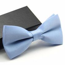 Gravata Borboleta Azul Bebê Com Regulador Adulto E Infantil