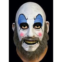 Máscara Payaso Capitan Spaulding De Latex Disfraz Rob Zombie