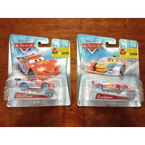 Set 2 Disney Pixar Cars Rayo Mcqueen Y Rip Serie Ice Racers
