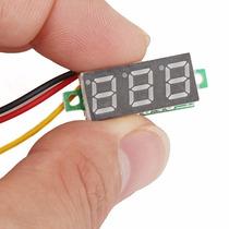 Mini Voltímetro Digital 0v A 100v 0,28 - Fonte Bancada Som