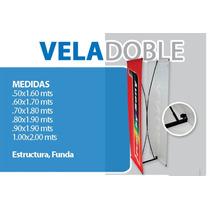 Display Vela Doble .50 X 1.60 , Banner, Publicidad.