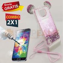 Funda Protector Oreja Mickey Agua + Cristal Lg X Cam K580