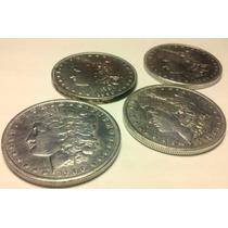Lote De Dolares Morgan Monedas Plata 900 Excelente Acpt M.p.