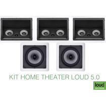 Caixas Embutir Gesso Teto Home Theater Loud Áudio 5.0 - 500w