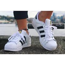Promoção! Tênis Adidas Superstar Foundation Homem E Mulher