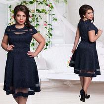 Vestido Negro Tallas Grandes Xl, 2xl, 3xl