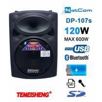 Corneta Amplificada Temeisheng D-107s Bt Mic Usb Bat Sd Fm