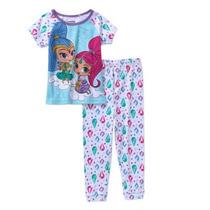 Pijama Camiseta Vestido Shimmer And Shine Importado No Br