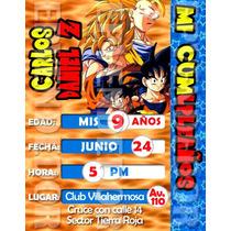 Tarjetas De Invitacion Dragon Ball - Epvendedor