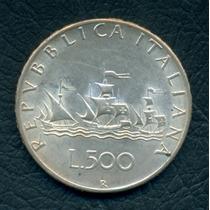 Moneda Italia 1966 R 500 Lire Km#98 (plata)