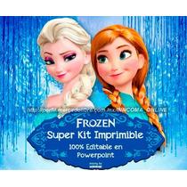 Kit Imprimible Frozen, 100% Editable En Powerpoint 2x1