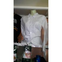 Camisa Escolar Manga Larga Para Corbata