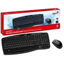 Kit Teclado + Mouse Inalambrico Genius Kb-8000x Smart Tv