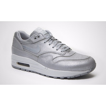 Tênis Nike Air Max 1 Cut Out Premium Prata Feminino Original