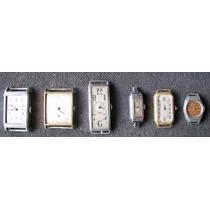 Lote Con 6 Relojes Antiguos Varios Para Restaurar O Repuesto