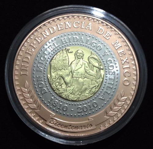 Medalla Trimetalica Bicentenario De La Independencia M 233 Xico 686 00 En Mercado Libre