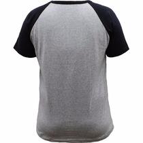 50 Camisetas Raglan 100% Poliéster (preta Com Mescla)