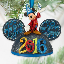 Disney Parks Ear Hat Ornamento Mikcey Mouse Con Luz 2016