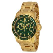 Reloj Invicta 0075 48mm Cronógrafo Fechero Dorado
