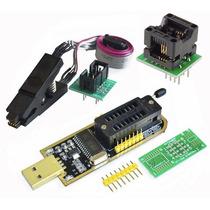 Programador Usb Ch341a Bios Eeprom 24 25 + Pinza + Adaptador