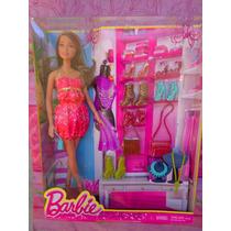 Barbie Afroamericana Set De Tienda De Zapatos Y Accesorios
