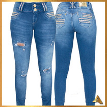 Calça Jeans Feminina Afront Estilo Pitbull Levanta Bumbum