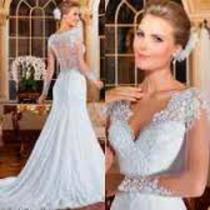 Vestido Noiva Rabo De Sereia Ou Rodado Tule Longo Renda !!!