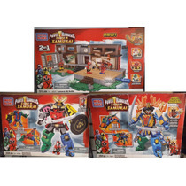 3 Set Power Rangers Samurai 1136 Pzs En Total Mega Bloks