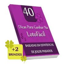 40 Dicas Lotofacil + Blindes Original E-book