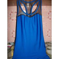 Vestido Azul Francia Elastizado Cintura Hasta 80cm,cade 100