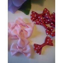 10 Moñitos Rosa Rojo Lunares Mini Minnie Mouse Souvenir Deco