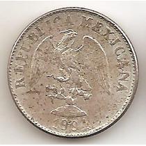 Mexico Republica, 10 Centavos, 1904 Mo M. Plata. Unc