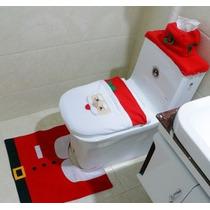 Set Baño Navidad, Juego De Baño Navideño, Santa Claus, Rojo