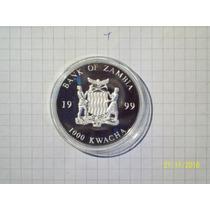 Zambia 1000 Kwacha 1999 Encapsulada Flor De Cuño 20 Euro