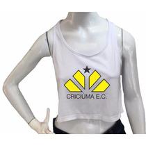Blusa Cropped Criciuma Feminina Regata Academia Fitness Top