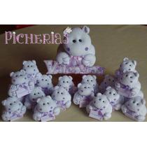 Souvenirs Nacimiento Baby Shower Hipopótamos X 10 Unidades