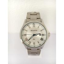 Relógio Masculino Atlantis De Luxo Prateado Pronta Entrega