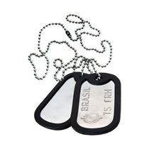 Medalha Identificação Exército Aço Inox Soldado Últimaspeças