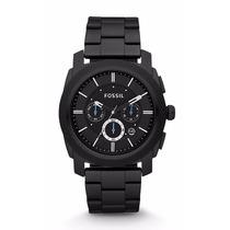 Reloj Fossil Mod. Fs4552 Negro Pavonado Cronometro Hombre