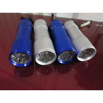 Paquete 4 Lampara Camping Aluminio 9 Led Ultrabrillosos