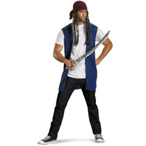 Disfraz Adulto Pirata Gorro Con Pelo Y Chaleco
