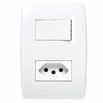 Conjunto 1 Interruptor Sim+1 Tomada 10a, Ilus Siemens 4x2